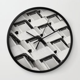 Modernistic Architectural Pattern Wall Clock