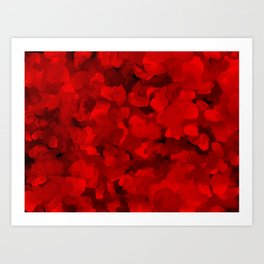 Rich Scarlet Red Gradient Abstract Art Print