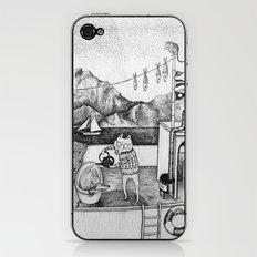 Fox on Fishing-boat iPhone & iPod Skin
