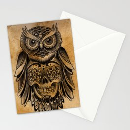 Owl Tattoo  Stationery Cards