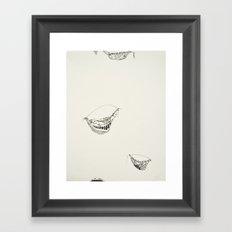 When the whites of eyes fill in black (1) Framed Art Print