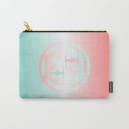 Mint and Pink Ombre Imperial Cog and Tie Fighters, Dark Side, Galactic Empire Carry-All Pouch