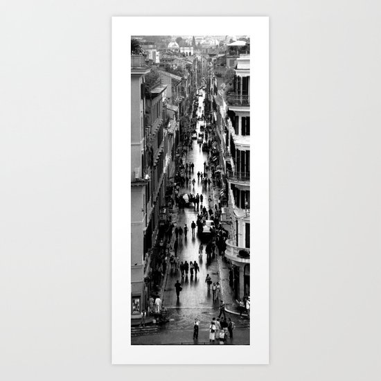 Rome, view from Spanish steps Art Print