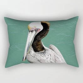 Brown Pelican Upstanding Rectangular Pillow