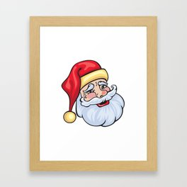 Santa Claus portrait Framed Art Print