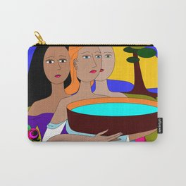 Three Women Preparing for Evening, Purple Sky Carry-All Pouch