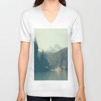 diablo V-neck T-shirts featuring The departure - Diablo Lake by jordanwlee.com