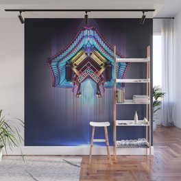 Neon Temple Wall Mural