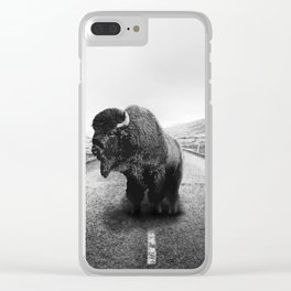 Lonely Hiker Clear iPhone Case