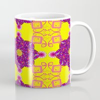 psychadelic Mugs featuring Psychadelic Flora by Cynthia Squire