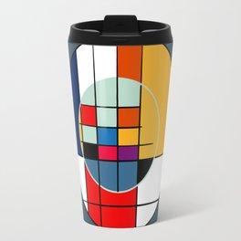 abstract art geometric Travel Mug