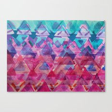 Overlapping Triangles 3 Canvas Print