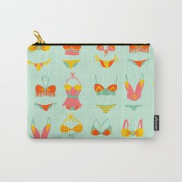 Bikini Collection on Mint Carry-All Pouch