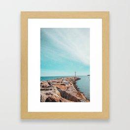Far Off Coast Framed Art Print