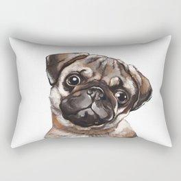 The Melancholy Pug Rectangular Pillow