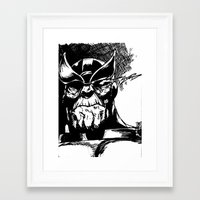 thanos Framed Art Prints featuring Thanos by Brandon Gorski