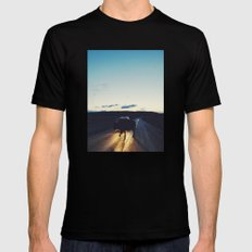 Bison in the Headlights MEDIUM Mens Fitted Tee Black