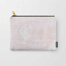 Pink Rose Gold Marble Print II Carry-All Pouch