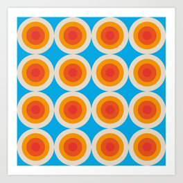 Kauai 16 - Colorful Classic Abstract Minimal Retro 70s Style Graphic Design Art Print