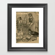 Mary had a Pretty Bird Framed Art Print