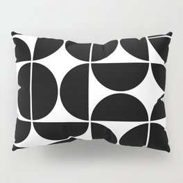 Mid Century Modern Geometric 04 Black Pillow Sham