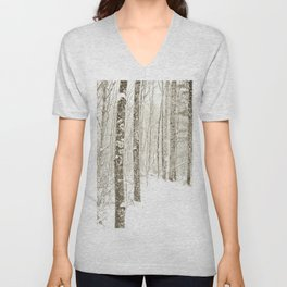 Wintry Mix Unisex V-Neck