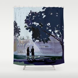 The Lovers Shower Curtain