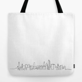 Chicago Skyline Drawing Tote Bag