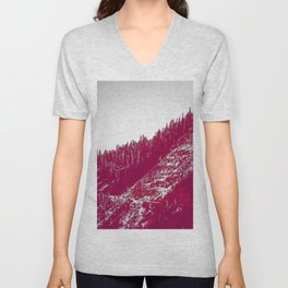 A red velvet myst fogged his eyes but they were evergreen Unisex V-Neck