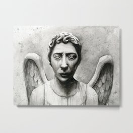 Weeping Angel Metal Print