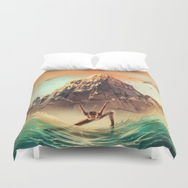 CAPRICORN from the Dancing Zodiac Duvet Cover