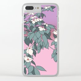 Dogwood Blossoms Clear iPhone Case