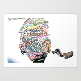 Arming Teachers Art Print