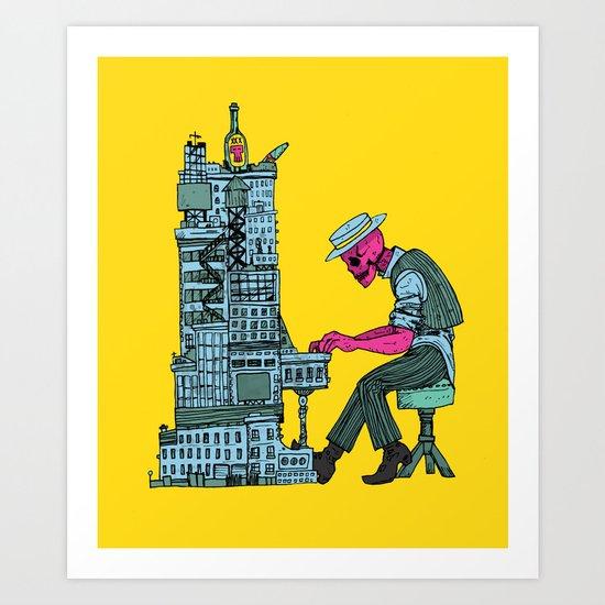 The Undead Pianist Art Print