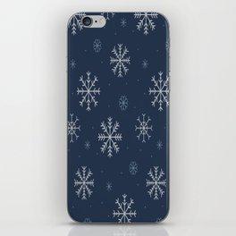Artistic snowflakes pattern iPhone Skin