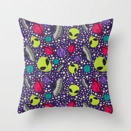 Intergalactic Party Throw Pillow