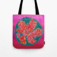 pomegranate Tote Bags featuring Pomegranate by bravo la fourmi