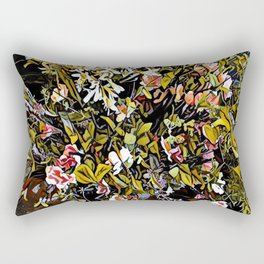 Yellow and Pink Bouquet of Flowes Rectangular Pillow