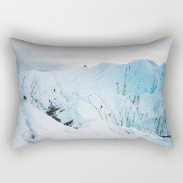 Lighting the Ice Peak Rectangular Pillow