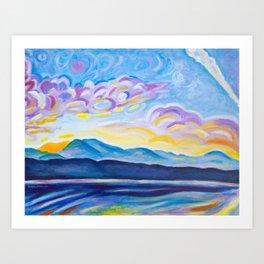 Jetstream and Comox Glacier Art Print