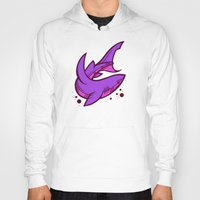 shark Hoodies featuring Shark by Artistic Dyslexia