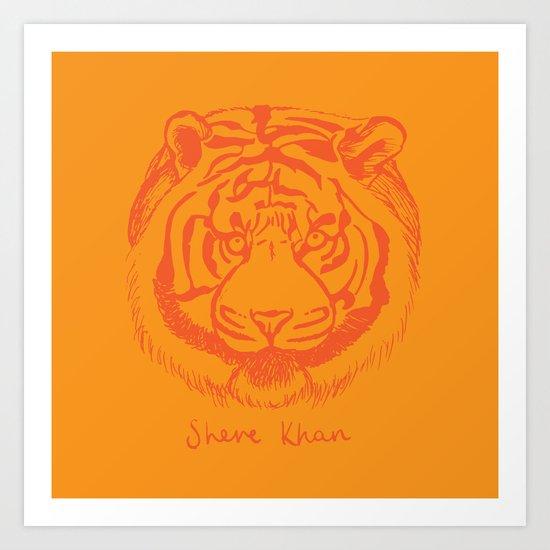 Shere Khan Art Print