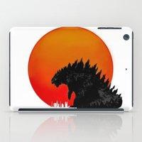 godzilla iPad Cases featuring Godzilla by Maguire