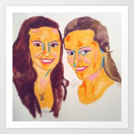 Madeline and Brittany #facesilove Art Print