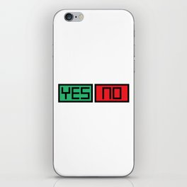 Yes No Buttons iPhone Skin
