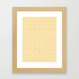 Sun Yellow Ocean Kelp Pattern Framed Art Print