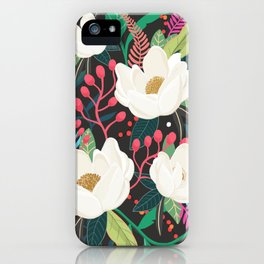 The Garden of Alice, flower, floral, blossom art print iPhone Case