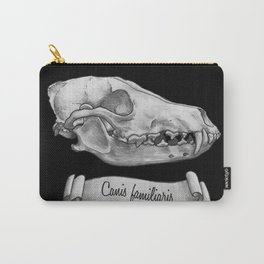 Dog Skull in Ink Carry-All Pouch