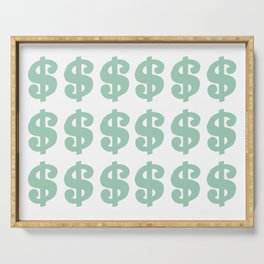 Mint Dollars Serving Tray