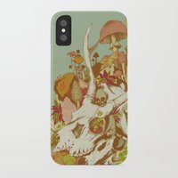 skulls iPhone & iPod Cases featuring skulls in spring by Teagan White